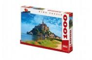 Puzzle Mont Saint Michel 66x47cm 1000dílků v krabici 37x27x5cm