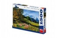 Puzzle Bavorské Alpy 84x60cm 1500dílků v krabici 37x27x5cm