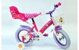 Dětské kolo Minnie/Disney 90cm kov růžové s košíkem nosnost 60kg od 3 let