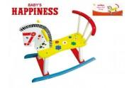Koník houpací dřevěný 60x50x29cm Baby´s Happiness  v krabičce