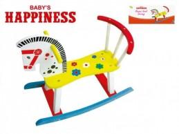 Koník houpací dřevěný 60x50x29cm Baby´s Happiness v krabičce - Rock David