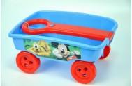 Vozík/Vlečka Mickey plast 15cm s rukojetí 14cm od 24 měsíců