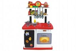 Kuchyňka plast 97,8x37,5x62,9cm na baterie se zvukem se světlem 30ks v krabici 61,5x76x17cm - Rock David