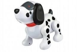 Interaktivní pes MAX plast 20cm na baterie se zvukem se světlem v krabici - Rock David