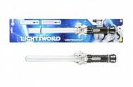 Meč svítící plast 42cm na baterie na kartě