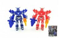 Robot bojovník plast 15cm s doplňky asst 4 barvy na kartě