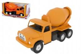 Auto Tatra 148 plast 30cm míchačka oranžová v krabici - Rock David
