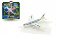 Letadlo kov/plast 13cm asst 2 barvy na kartě