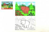 Omalovánky Moje první lesní zvířátka 21x14,5cm MPZ