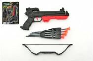 Pistole s lukem na přísavky plast 27cm asst 2 barvy na kartě
