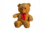Medvěd s mašlí velký plyš 80cm světle hnědý od 0 měsíců