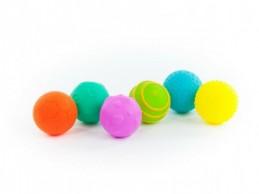 Sada míčků 6ks s texturou gumové 6cm v krabici 6m+ - Rock David
