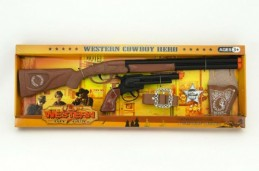 Kovbojská sada kolt puška plast 5ks v krabici - Rock David