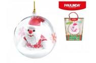 Tvořivá hmota/modelína Paulinda Merry Christmas 2x14g  s figurkou Santa Claus a doplňky v krabičce