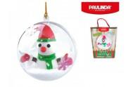 Tvořivá hmota/modelína Paulinda Merry Christmas 2x14g baňka se sněhulákem a doplňky v krabičce