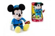 Mickey Mouse plyšový policista 30cm na baterie se zvukem v krabičce 12m+