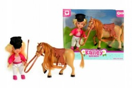 Panenka 12cm s koněm 12cm plast v krabici - Rock David