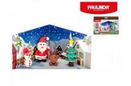 Tvořivá hmota/modelína Paulinda Merry Christmas 6x14g s doplňky asst 8 druhů v krabici 12ks v boxu