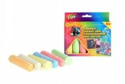 Křídy barevné chodníkové 10,5x2,5x2,2cm 6ks v krabičce - Rock David