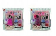 Šaty/Oblečky na panenky s doplňky (sada na kartě)
