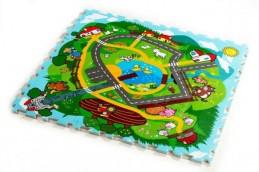 Pěnové puzzle Město Moje první zvířátka 30x30x1,2cm 9ks MPZ - Rock David