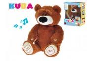 KUBA medvídek plyšový 35cm naučný na baterie v krabičce