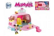 Minnie auto cukrárna 25cm na baterie se světlem a zvukem s kloubovou figurkou a doplňky v krabici