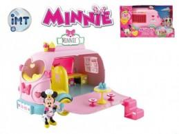 Minnie auto cukrárna 25cm na baterie se světlem a zvukem s kloubovou figurkou a doplňky v krabici - Rock David