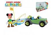 Mickey Mouse Clubhouse auto s rybářským člunem plast 20cm kloubovou figurkou s doplňky v krabičce