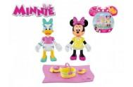 Minnie a Daisy figurky kloubové plast 8cm 2ks s piknikovými doplňky v krabičce