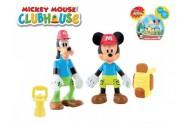 Mickey Mouse a Goofy Clubhouse figurky badatelů kloubové 8cm 2ks s doplňky v krabičce