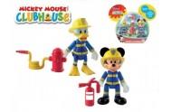 Mickey Mouse a Donald Clubhouse figurky hasiči 2ks kloubové plast 8cm s doplňky v krabičce