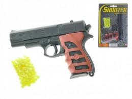 Pistole na kuličky plast 15cm s kuličkami na kartě - Rock David