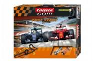 Autodráha Carrera GO!!! Fast start 7m + 2 formule v krabici