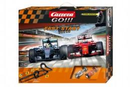 Autodráha Carrera GO!!! Fast start 7m + 2 formule v krabici - Rock David