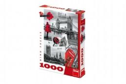 Puzzle Londýn - koláž 1000 dílků 47x66cm v krabici 37x27x5cm - Rock David