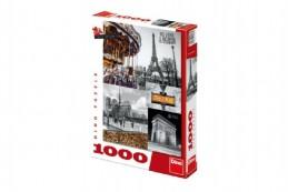 Puzzle Paříž - koláž 1000 dílků 47x66cm v krabici 27x37x5cm - Rock David