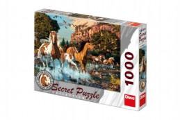 Puzzle Koně 15 skrytých detailů 1000 dílků 66x47cm v krabici 37x27x5cm - Rock David