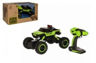 Auto Rock Buggy green monster RC 2,4GHz 4x4 offroad plast 33cm na baterie 1:14 v krabici