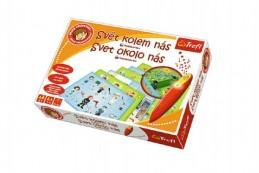 Malý objevitel Svět kolem nás + kouzelná tužka edukační společenská hra v krabici - Rock David