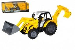 Traktor nakladač bagr 29cm na setrvačník v krabici - Rock David
