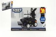 Stavebnice Dromader SWAT Policie Auto 229ks plast v krabici 32x21,5x5cm