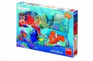 Puzzle Dory a přátelé 4x54dílků 19x13cm v krabici 33x23x3,5cm