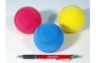 Soft míč na softtenis pěnový 7cm 3ks v sáčku