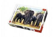 Puzzle Afričtí sloni 1000 dílků 68,3x48cm v krabici 40x27x6cm
