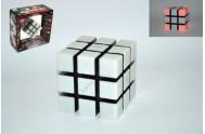 Rubikova kostka hlavolam 9x9x9cm plast 6 her na baterie se zvukem se světlem v krabici