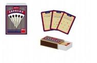 Zápalky společenská hra malá 50 hlavolamů se sirkami v krabičce 12x16x6cm