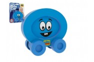 Moje první autíčko pěna Smajlík modrý 8x8cm na kartě 0+