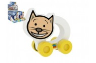 Moje první autíčko Kočička pěna 8,5x8cm na kartě 10ks v boxu 0+(lze mixovat s ostatními zvířátky)