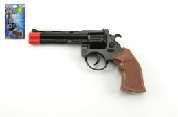 Pistole - Kapslovka kov 19cm 8 ran na kartě - Rock David